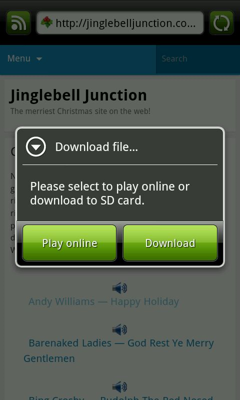 Download from mobile browser