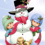 kids-snowman-iphone-wallpaper