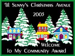 Christmas Award 2003
