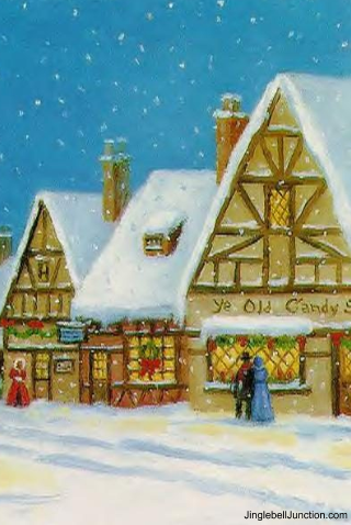 Christmas Village Iphone Wallpaper Jinglebell Junction
