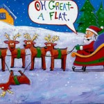 Santa got a Flat