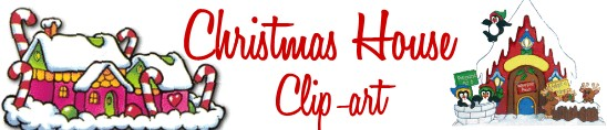 Christmas House Clip Art