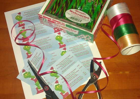 image about Candy Cane Poem Printable identified as Eco-friendly Grinchy Canes Up-to-date!! Jinglebell Junction
